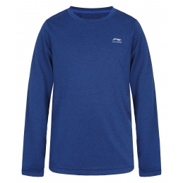 LI-NING Tee-Shirt ML Bleu Junior