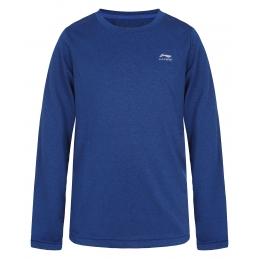 LI-NING Tee-Shirt ML Bleu Junior