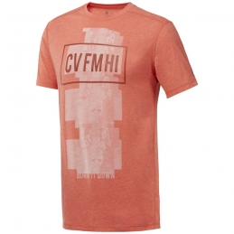 REEBOK TEE-SHIRT RC Burnout Orange H