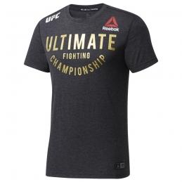 REEBOK Tee-Shirt UFC FK ULTIMATE JER BLACK/UFCGOL H