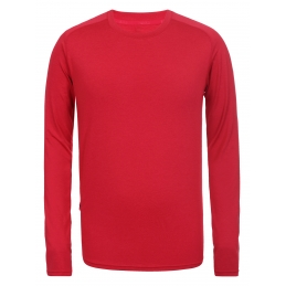 RUKKA Tee-shirt Manche longue rouge H
