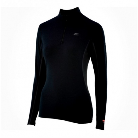 MIZUNO Tee-Shirt manches longues cold température 1/2 zip F