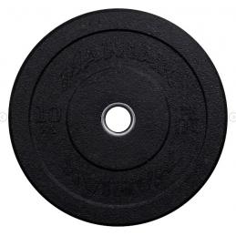 DISQUE BUMPER HITEMP BLACK LOGO STEEL RING 10KG