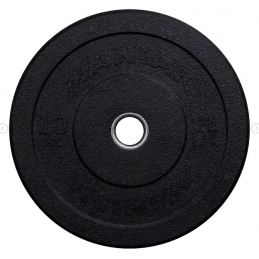 DISQUE BUMPER HITEMP BLACK LOGO STEEL RING 10KG